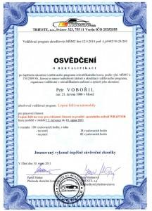 Certifikát celopolepy aut