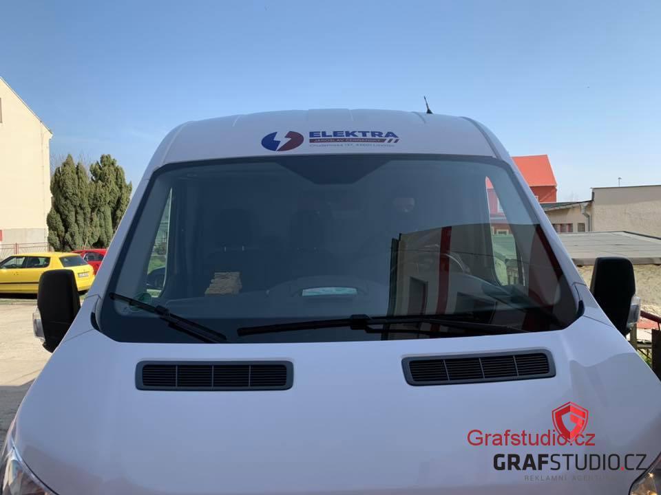 reklamní polep vozidla Elektra Litvínov