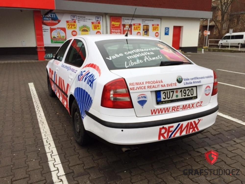 Reklamní celopolep automobilu Škoda