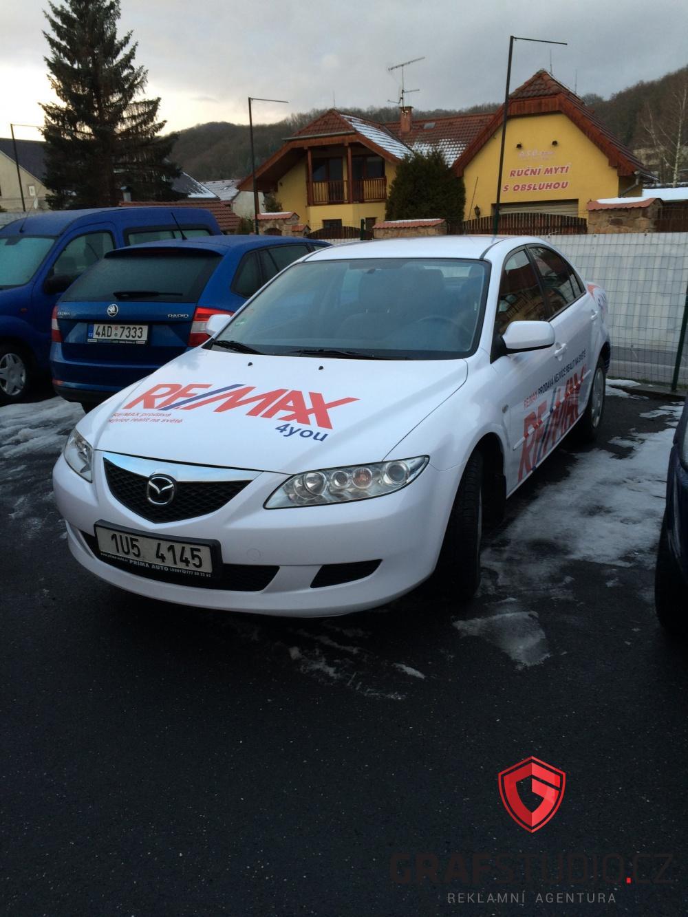 Reklamní celopolep automobilu