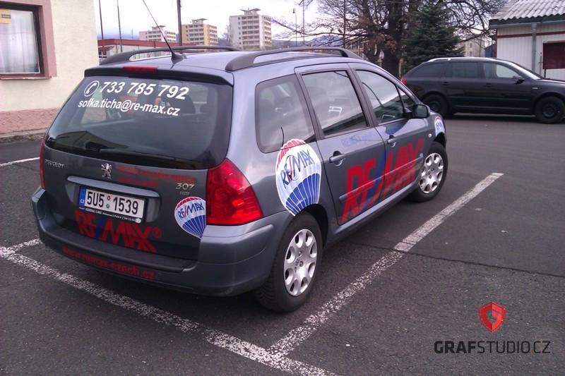 Reklamní celopolep vozidla Peugeot