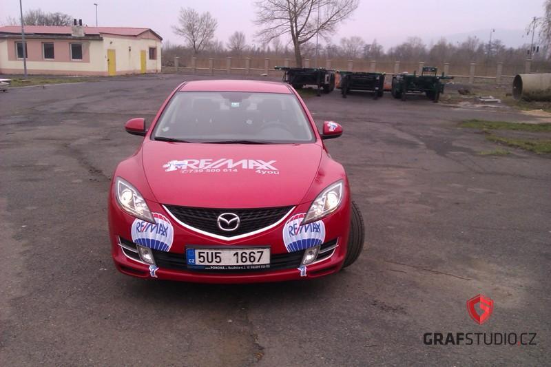 Reklamní celopolep vozidla Mazda