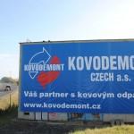 instalace billboardu na budově