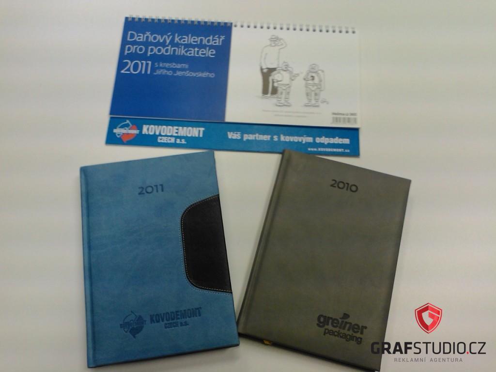 Reklamní předměty - kalendář a diář