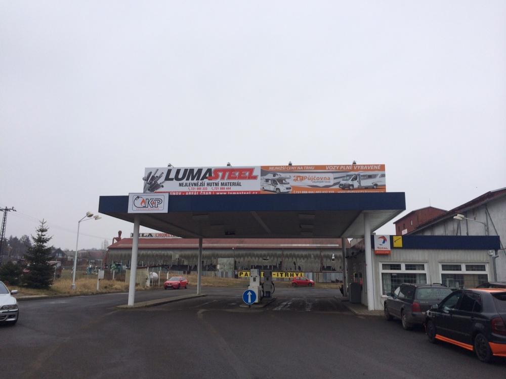 Kovová reklamní konstrukce - billboard