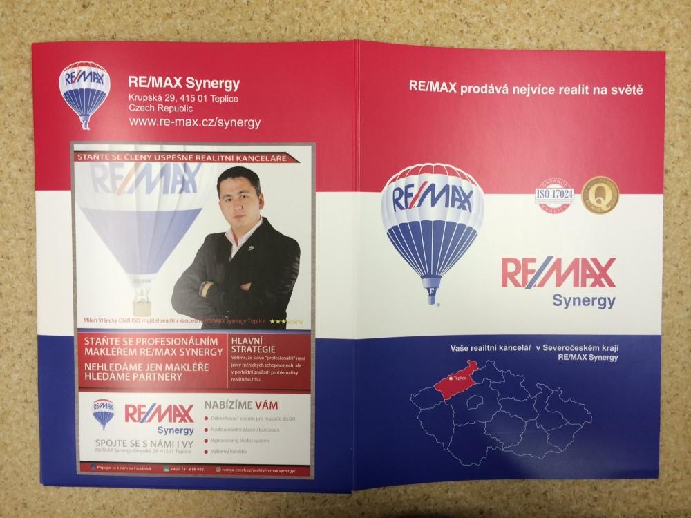 Tisk prezentačních desek Remax