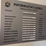 informační cedule Horní Jiřetín
