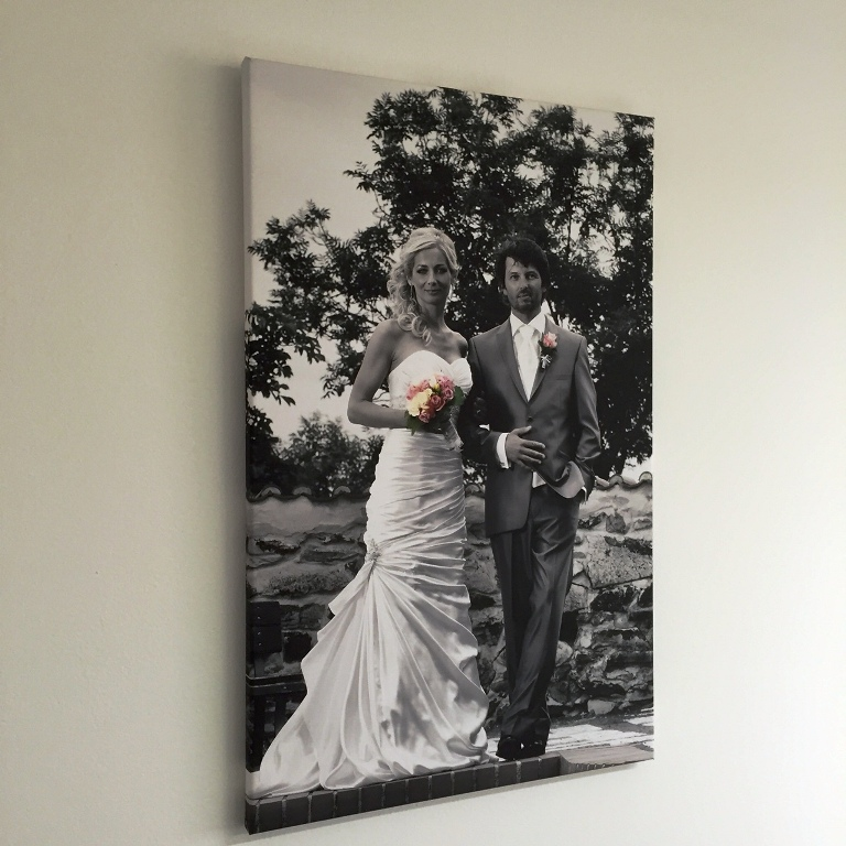 fotoobraz ze svatby na plátně tisk
