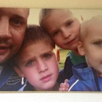fotoobraz rodiny na plátně