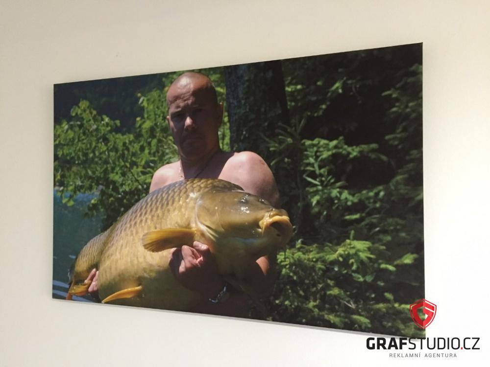 fotoobraz muže s kaprem na plátně